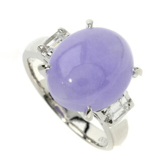 SELECT JEWELRY lavender jade / diamond ring platinum PT900 Lady's