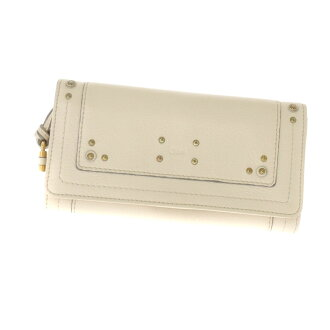 CHLOE type press design long wallet Leather Womens