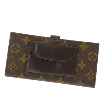 LOUIS VUITTON billfold long wallet (there is no coin purse) monogram canvas unisex fs3gm