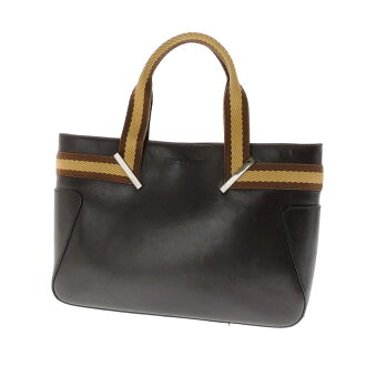 GUCCI plate with a canvas tote bag x Leather Womens