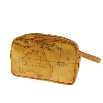 PRIMA CLASSE map pattern bag leather mens