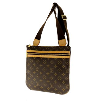 LOUIS VUITTON pochette boss four M40044 shoulder bag monogram canvas unisex