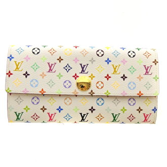 LOUIS VUITTON Pochette-port Monet, Credit Suisse M60004 wallet ( purses and ) モノグラムマルチ colors canvas Womens