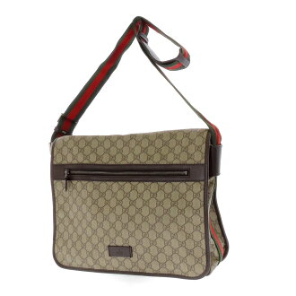 GUCCI tiny GG pattern shoulder bag PVCx leather unisex