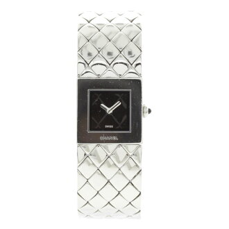 CHANEL matelasse watch SS Lady's