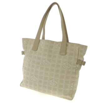 CHANEL Newt label line Tote Jacquard x calf Womens