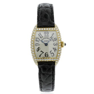 FRANCK MULLER tenor curvex watch YG / Leather Womens