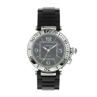 CARTIER pasha sea timer OH 済腕時計 rubber men
