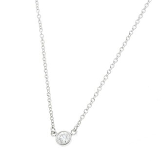 TIFFANY & co... by the yard necklace Platinum PT950 ladies
