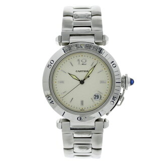 CARTIER Pasha 38 mm OH and outstanding watch SS mens fs3gm