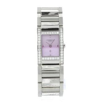 PHILIPPE CHARRIOL Megève diamond watch SS women's fs04gm