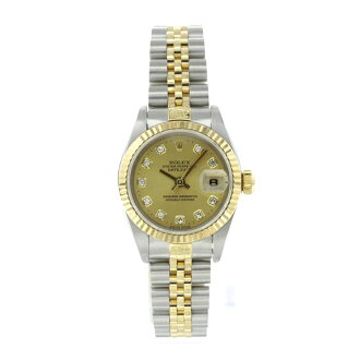 ROLEX Datejust 69173 G 10PD OH already watch K18YG/SS ladies