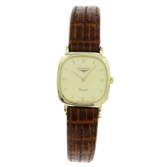 LONGINES square case watch SS / Leather Womens