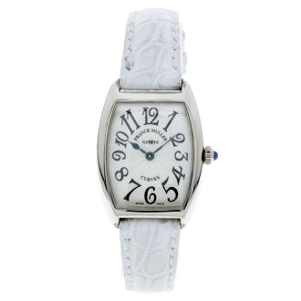 FRANCK MULLER トノーカーベックス 1752 QZ wristwatch K18WG / Leather Womens