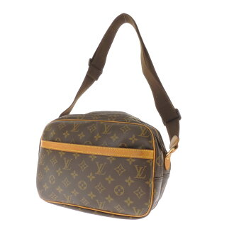 28 LOUIS VUITTON reporter M45254 shoulder bag monogram canvas Lady's