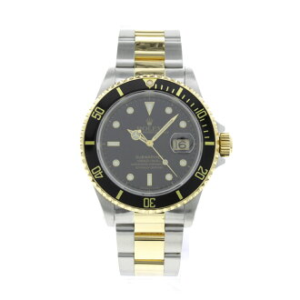 ROLEX Oyster Perpetual date Submariner 16613 OH already watch SS/K18YG mens