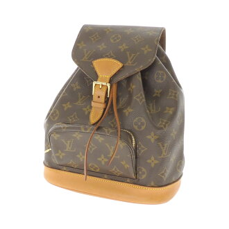 LOUIS VUITTON Montsouris Middle M51137 backpack daypack Monogram Canvas ladies '