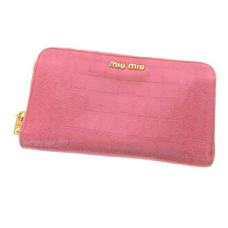 MIUMIU zip around wallet ( purses and ) enamel ladies