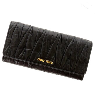 MIUMIU gather design wallets (purses and) leather ladies