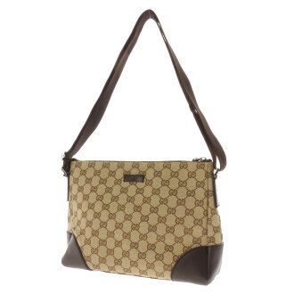 GUCCIGG pattern shoulder bag GG canvas / Leather Womens
