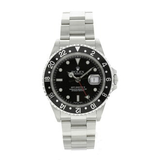 ROLEX Oyster Perpetual date GMT Master 2 16710 watch SS mens fs3gm