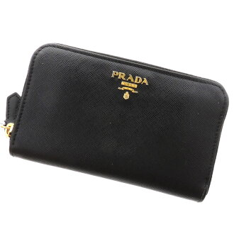 PRADA zip around two bi-fold wallet ( purses and ) calf Womens
