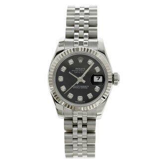 ROLEX179174G Datejust 10 P diamond watch K18WG/SS ladies