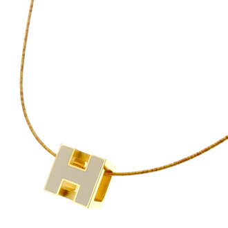 HERMESH cube necklace pendant Lady's