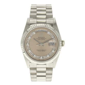 ROLEX18239MG day-date diamond watch K18WG mens
