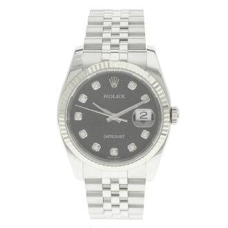 ROLEX オイスターパーペチュアルデイトジャスト 116234G computer 10P diamond index watch SS men