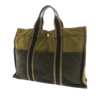 HERMES case fool toe MM tote bag canvas unisex