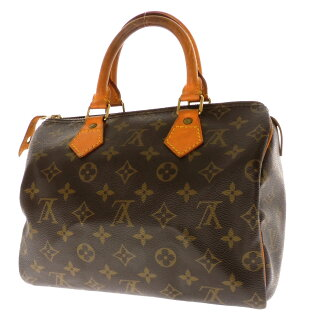 25 LOUIS VUITTON speedy M41528 handbag monogram canvas Lady's
