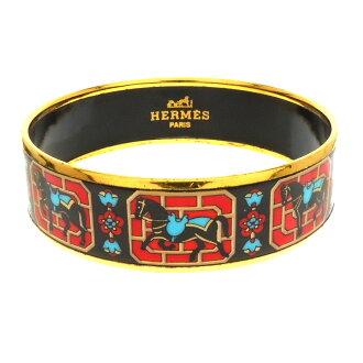 HERMES: cloisonne horse pattern bracelet ladies ' upup7