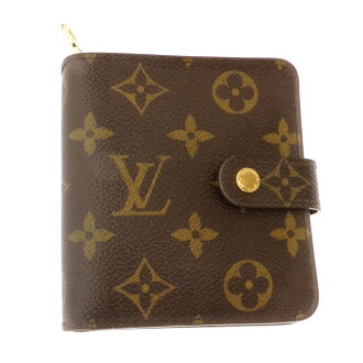 LOUIS VUITTON compact zip round fastener M61667 folio wallet (there is a coin purse) monogram canvas Lady's
