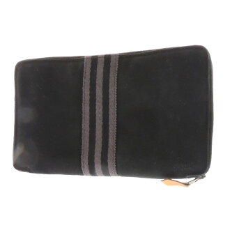 HERMES fool toe wallet long wallet (there is a coin purse) canvas unisex