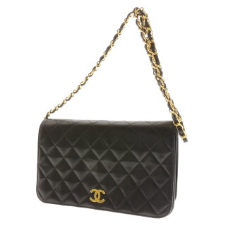 CHANEL chain here mark matelasse shoulder bag leather Lady's
