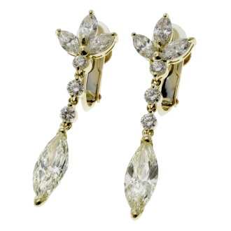 SELECT JEWELRY diamond earrings K18 yellow gold Lady's fs3gm