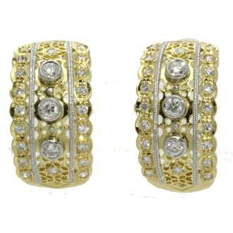 SELECT JEWELRY diamond earrings 18-karat gold / Platinum ladies fs3gm