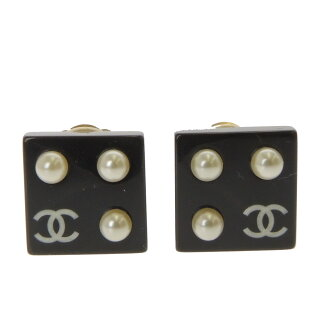 CHANEL dice earrings Lady's