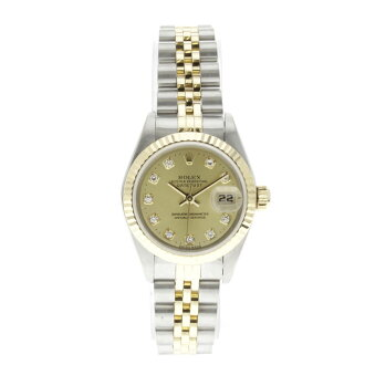 ROLEX Oyster Perpetual Datejust 69173 G OH and outstanding watch K18YG/SS ladies