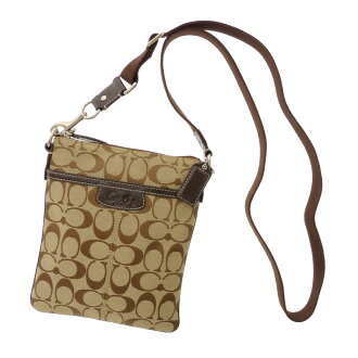 COACH signature pattern long shoulder shoulder bag campus Lady's