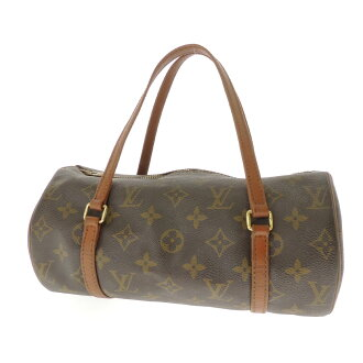 26 LOUIS VUITTON papillon M51386 old type handbag monogram canvas Lady's