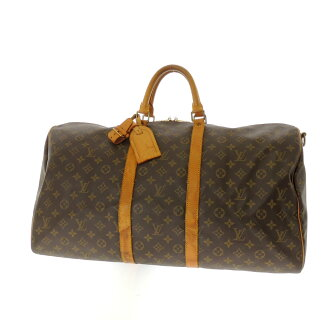 55 LOUIS VUITTON key Poll M41424 shoulder straps Boston bag monogram canvas unisex belonging to