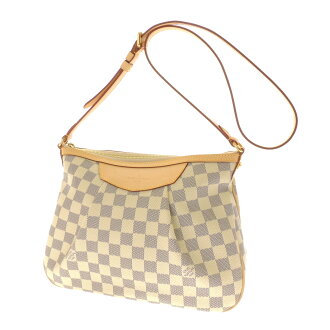 LOUIS VUITTON Siracusa PM N41113 shoulder bag Damier Canvas women's fs3gm