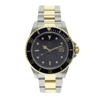 ROLEX Oyster Perpetual Submariner date 16613 OH already watch K18YG/SS mens fs3gm