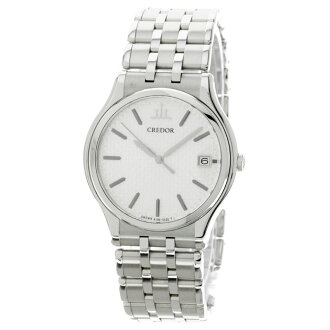 SEIKO credor signo 8J06-7A00 watch stainless steel mens