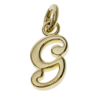 GARRARD g charm pendant top necklace pendant K18 gold Lady's fs3gm
