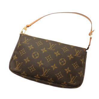 LOUIS VUITTON Accessoires or M51980 accessory pouch Monogram Canvas ladies fs04gm