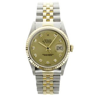 ROLEX オイスターパーペチュアルデイトジャスト 16233G watch K18 yellow gold /SS men