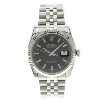 116234 ROLEX date just watch stainless steel men